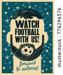 watch football with us  sports...   Shutterstock .eps vector #776296576