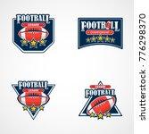set of american football logo... | Shutterstock .eps vector #776298370