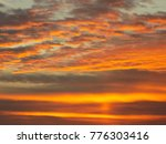 a beautiful sky and sunset | Shutterstock . vector #776303416