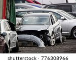 damaged grey cars waiting in a... | Shutterstock . vector #776308966