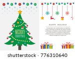 christmas tree and happy new... | Shutterstock .eps vector #776310640