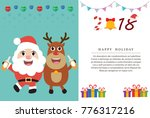 merry christmas and happy new... | Shutterstock .eps vector #776317216