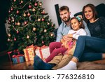 christmas giving gifts concept. ... | Shutterstock . vector #776326810