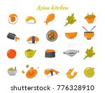 asian food sketch icon set.... | Shutterstock .eps vector #776328910