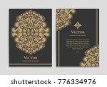 golden vintage greeting card on ... | Shutterstock .eps vector #776334976