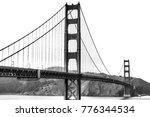 golden gate bridge in san... | Shutterstock . vector #776344534