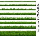 grass border collection | Shutterstock . vector #776344894