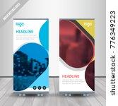 banner roll up design  business ... | Shutterstock .eps vector #776349223