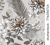 seamless floral pattern with... | Shutterstock .eps vector #776350714