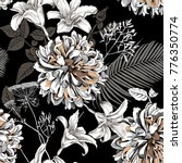seamless floral pattern with... | Shutterstock .eps vector #776350774