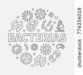 bacterias vector round concept... | Shutterstock .eps vector #776356018