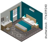 isometric modern bedroom with... | Shutterstock .eps vector #776359240