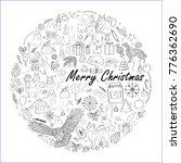 vector illustration  winter... | Shutterstock .eps vector #776362690