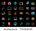 multimedia icons set | Shutterstock .eps vector #776364439