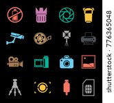 photography icons set | Shutterstock .eps vector #776365048