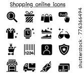 shopping online icon set vector ... | Shutterstock .eps vector #776366494