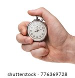 male's hand holding stopwatch... | Shutterstock . vector #776369728