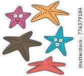 vector set of starfish | Shutterstock .eps vector #776379184