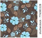 vector seamless pattern flowers ... | Shutterstock .eps vector #776381128