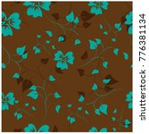 vector seamless pattern flowers ... | Shutterstock .eps vector #776381134