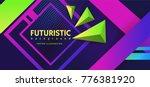 ultra violet geometrical... | Shutterstock .eps vector #776381920