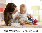 cute mother and child boy... | Shutterstock . vector #776384263
