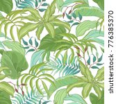 seamless tropical pattern with... | Shutterstock .eps vector #776385370