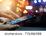 mobile payment  man using... | Shutterstock . vector #776386588