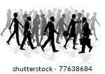business crowd of people... | Shutterstock . vector #77638684