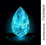 beautiful light blue gemstone... | Shutterstock .eps vector #776390839