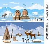 wild north arctic people in... | Shutterstock .eps vector #776391460