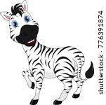 cute zebra cartoon | Shutterstock . vector #776391874