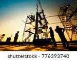 construction engineers... | Shutterstock . vector #776393740