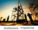 construction engineers... | Shutterstock . vector #776393740