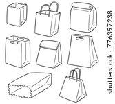 vector set of paper bag | Shutterstock .eps vector #776397238