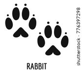 Stock vector rabbit step icon simple illustration of rabbit step vector icon for web 776397298