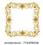 victorian golden frame | Shutterstock .eps vector #776398438