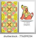 set of decorative backgrounds... | Shutterstock .eps vector #776399254