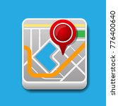 map icon vector illustration.