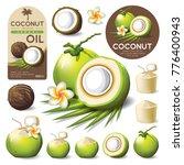 coconut isolated vector | Shutterstock .eps vector #776400943