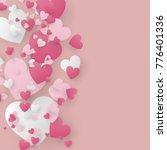 valentine scene background.... | Shutterstock .eps vector #776401336