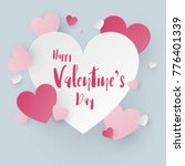 valentine scene background.... | Shutterstock .eps vector #776401339