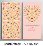set of decorative cards with... | Shutterstock .eps vector #776402554