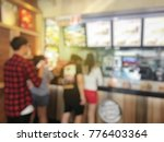 blurred image of people waiting ... | Shutterstock . vector #776403364