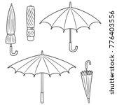 vector set of umbrella | Shutterstock .eps vector #776403556