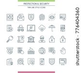 thin line design icons set on...   Shutterstock .eps vector #776404360