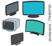 vector set of television | Shutterstock .eps vector #776404720