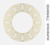 circular pattern in gothic... | Shutterstock .eps vector #776406430