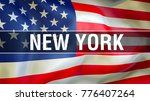 usa flag waving in the wind.... | Shutterstock . vector #776407264