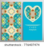 set of decorative cards with... | Shutterstock .eps vector #776407474